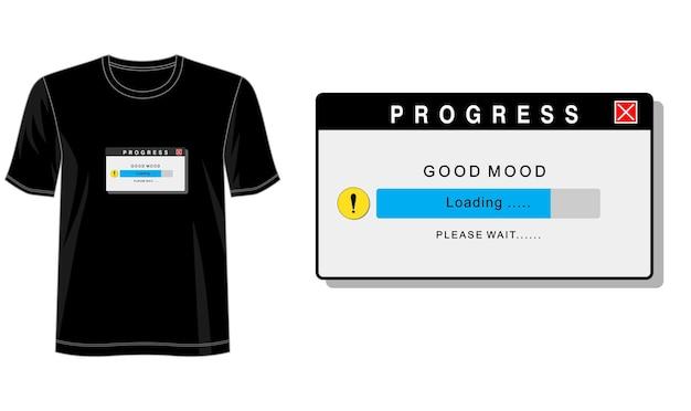 Dobry Nastrój Na Koszulkę Z Nadrukiem I Nie Tylko Premium Wektorów