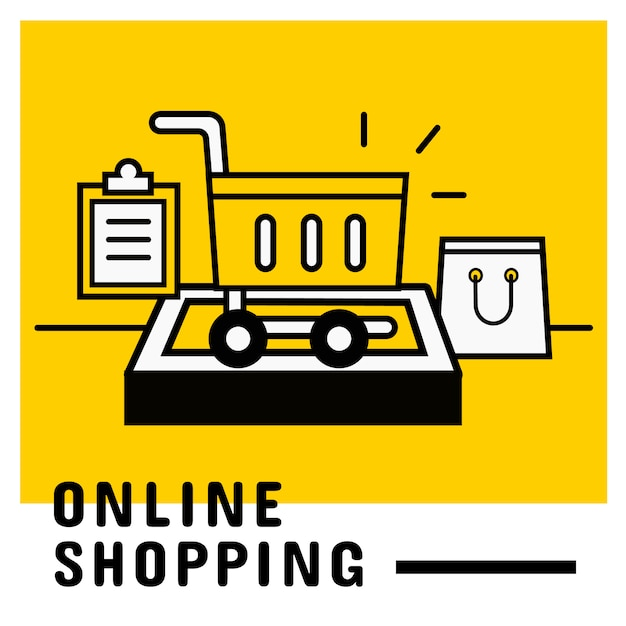 Dodaj Do Koszyka Na Mobilnej, Internetowej Koncepcji Zakupów Premium Wektorów