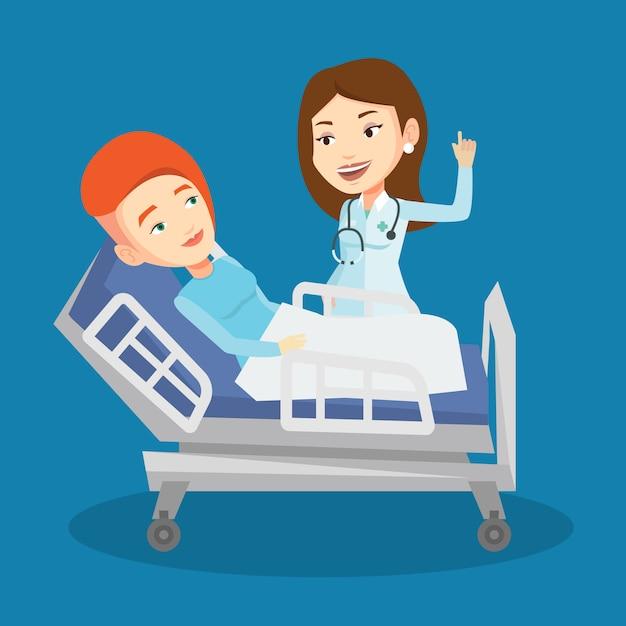 Doktor Odwiedzający Pacjenta. Premium Wektorów