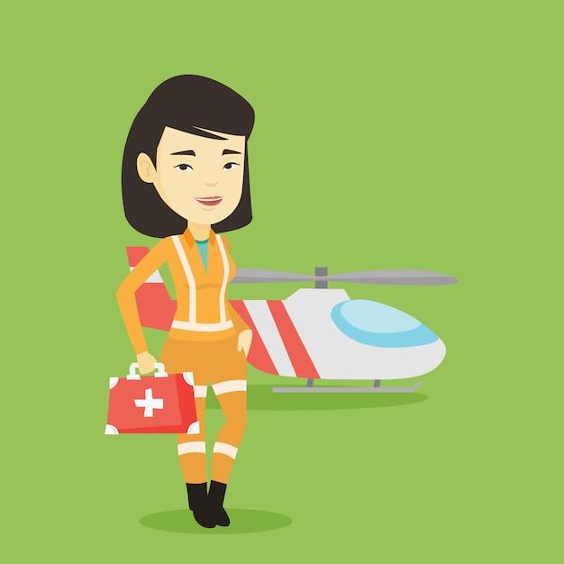 Doktor Pogotowia Lotniczego. Premium Wektorów