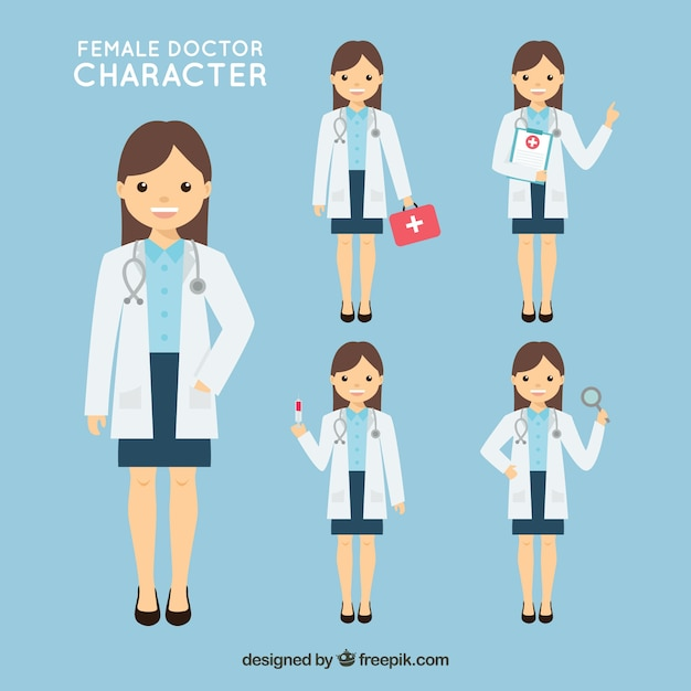 Doktor Z Różnych Naczyń Darmowych Wektorów