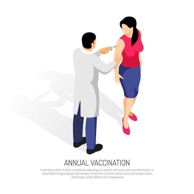 Doktorska Robi Szczepionka Pacjentce Darmowych Wektorów