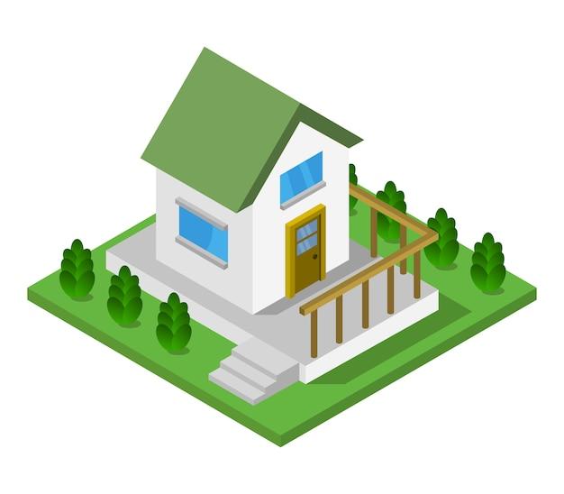 Dom Izometryczny Premium Wektorów