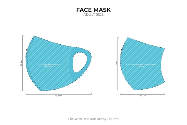 Domowa Szyjąca Maska Dla Dorosłych Darmowych Wektorów