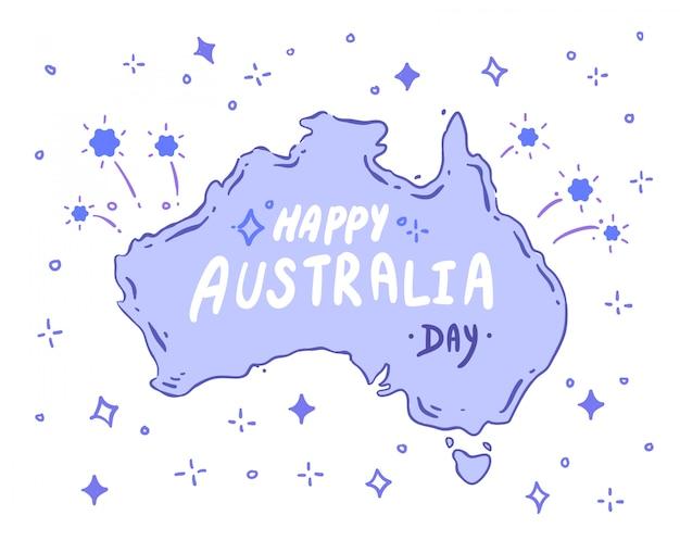 Doodle Australii. Wektor Australii Premium Wektorów