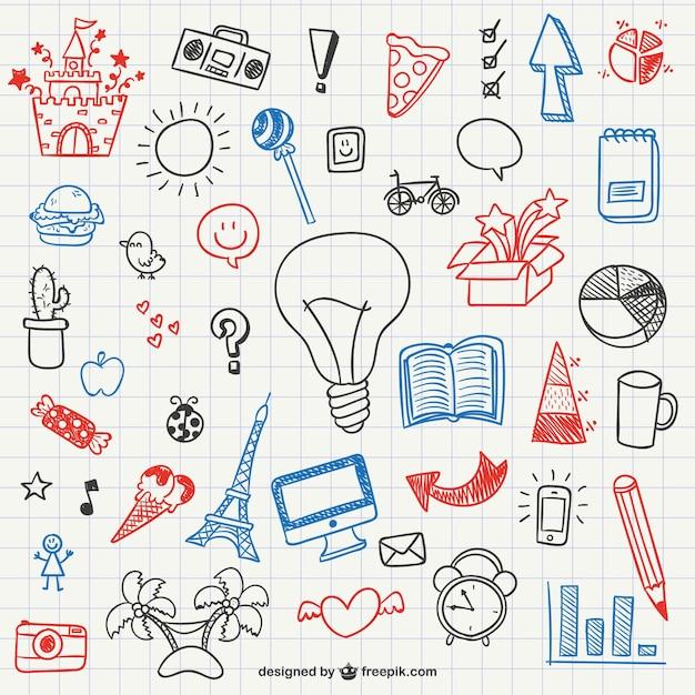 Doodles Proste Kolekcji Premium Wektorów