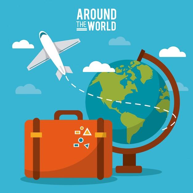 Znalezione obrazy dla zapytania: samolot globus