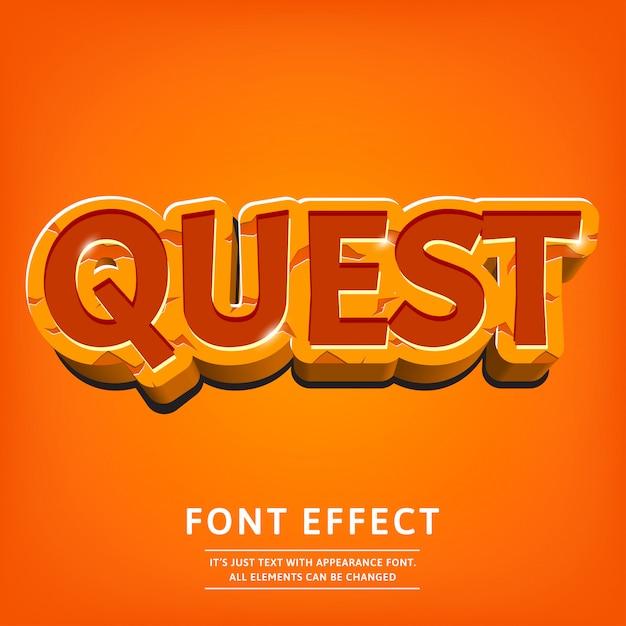 Dope 3d efekt tekstu do gry logo lub menu Premium Wektorów
