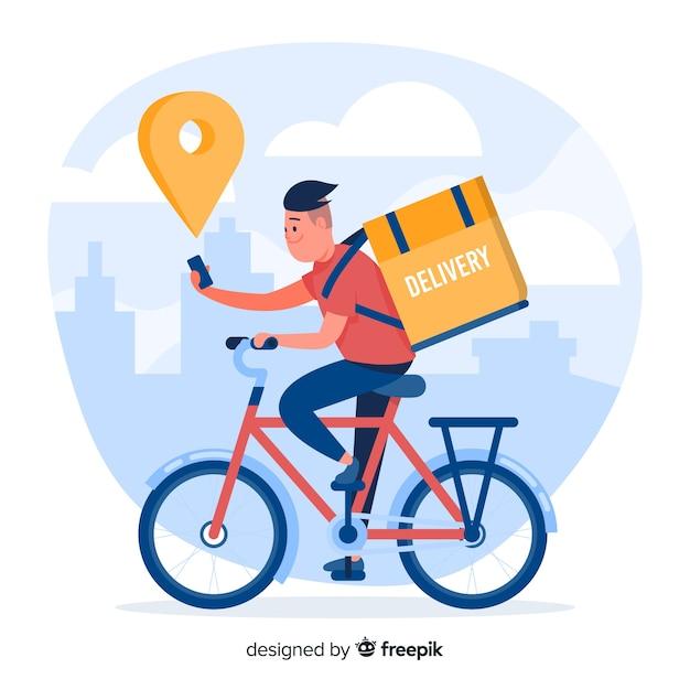 Dostawa rowerów Darmowych Wektorów