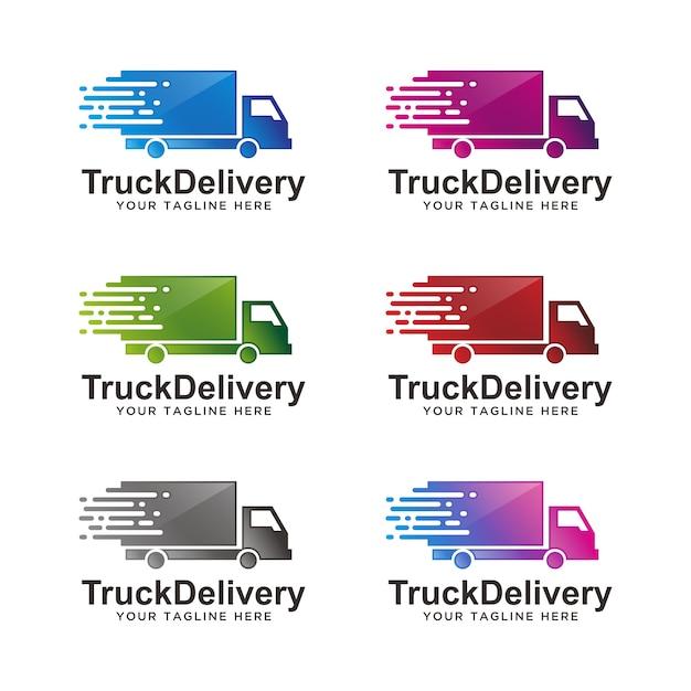 Dostawa Samochodów Ciężarowych, Logo Logistyczne Premium Wektorów