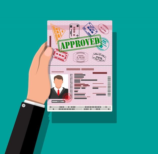 Dowód Osobisty W Dłoni. Dowód Osobisty, Dowód Osobisty Premium Wektorów