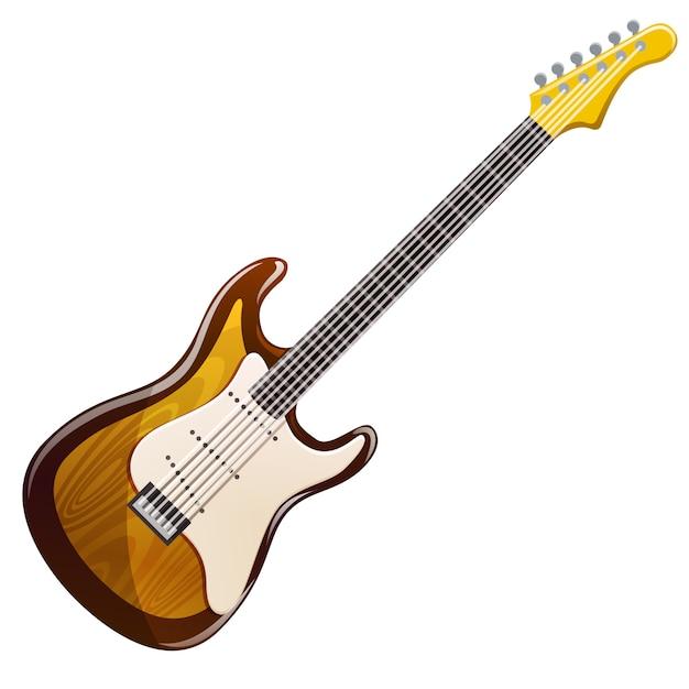 Drewniana gitara elektryczna Premium Wektorów