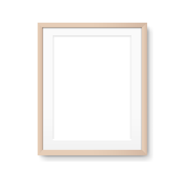 Drewniana Ramka Na Zdjęcia Premium Wektorów