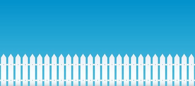 Drewniane płoty wiejskie, pikiety. ściana ogrodowa. Premium Wektorów
