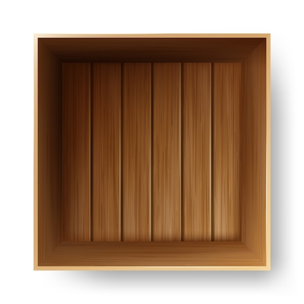 Drewniany Pojemnik Do Transportu Premium Wektorów