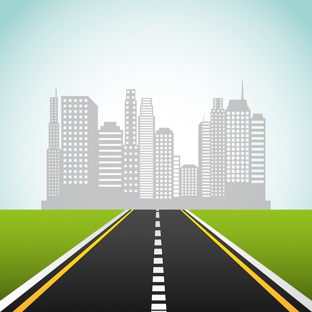 Droga autostrada Premium Wektorów