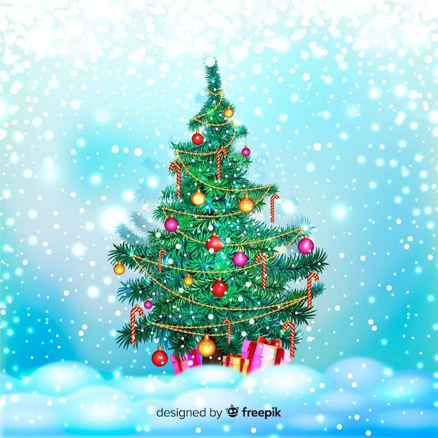 Drzewko świąteczne Darmowych Wektorów