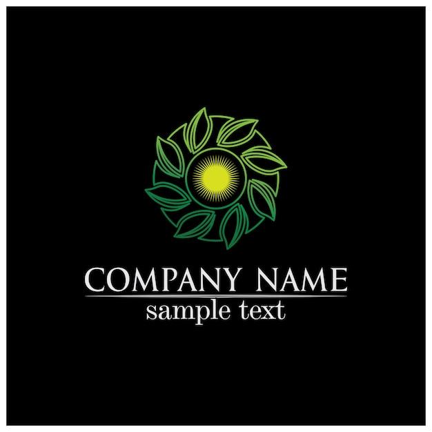 Drzewo liść wektor wzór logo przyjazne dla środowiska koncepcja Premium Wektorów