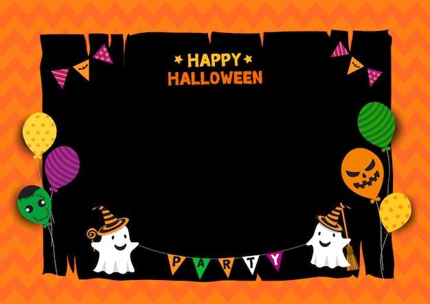 Duch halloween Premium Wektorów