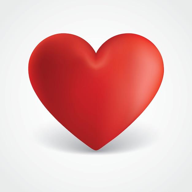 Duża czerwona ilustracja serce valentine Premium Wektorów