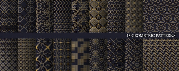 Duża Kolekcja Luksusowych Geometrii Premium Wektorów