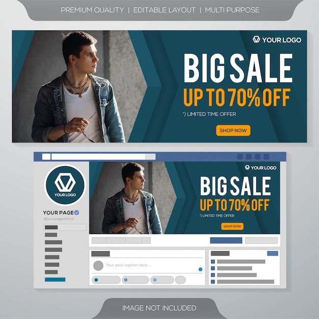 Duża Sprzedaż Szablon Transparent Mediów Społecznościowych Premium Wektorów