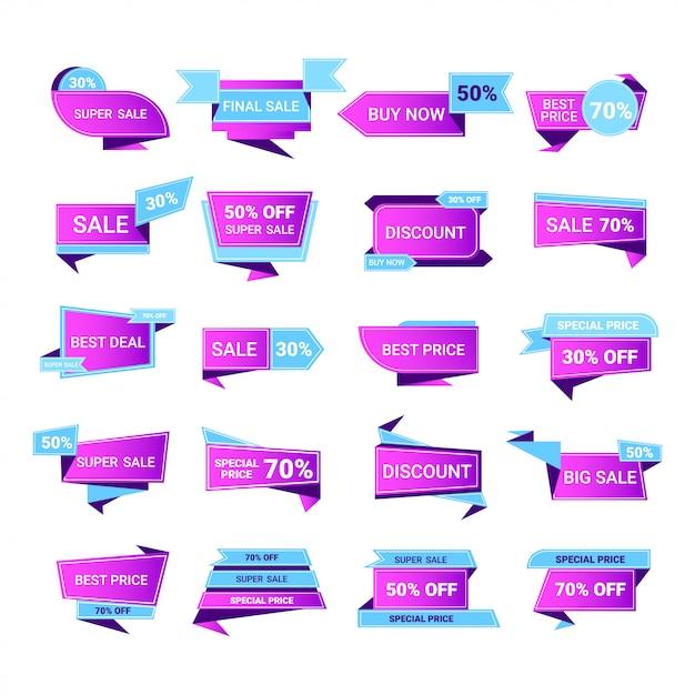 Duża Wyprzedaż Kup Teraz Naklejki Zestaw Oferta Specjalna Zakupy Odznaki Rabat Abstrakcyjne Banery Promocyjne Symbole Marketingowe Do Kampanii Reklamowej W Sprzedaży Detalicznej Premium Wektorów