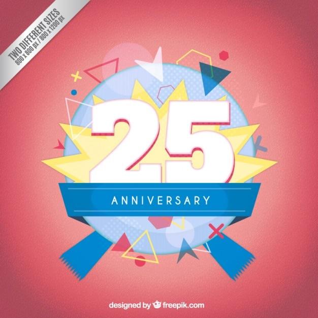 Dwadzieścia piąta rocznica nowoczesny odznaka Darmowych Wektorów