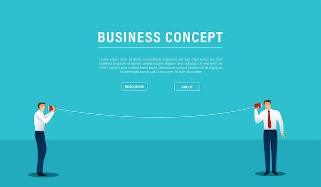 Dwie Komunikacji Biznesowej. Koncepcja Połączenia Premium Wektorów