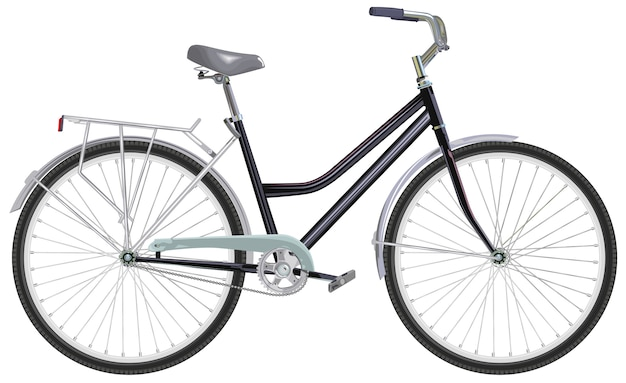 Dwukołowy Rower Jednobiegowy Premium Wektorów