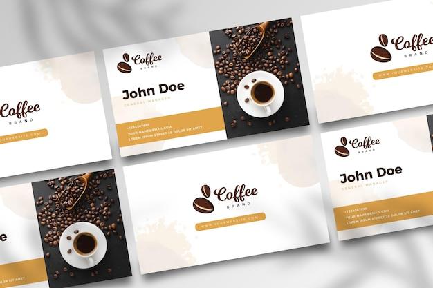 Dwustronna Wizytówka Kawowa V Darmowych Wektorów