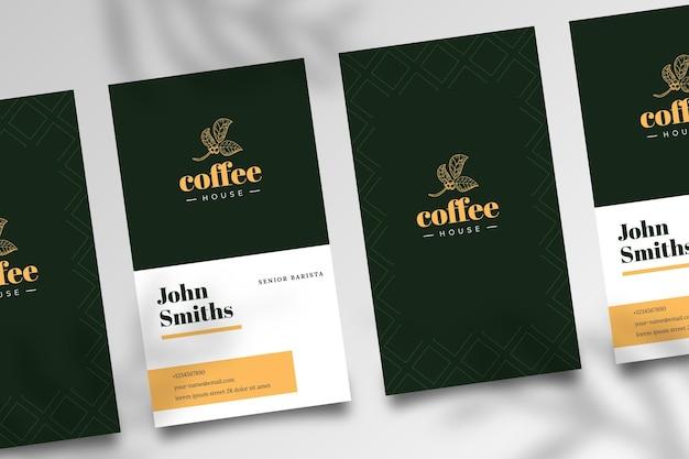 Dwustronna Wizytówka Kawowa Darmowych Wektorów