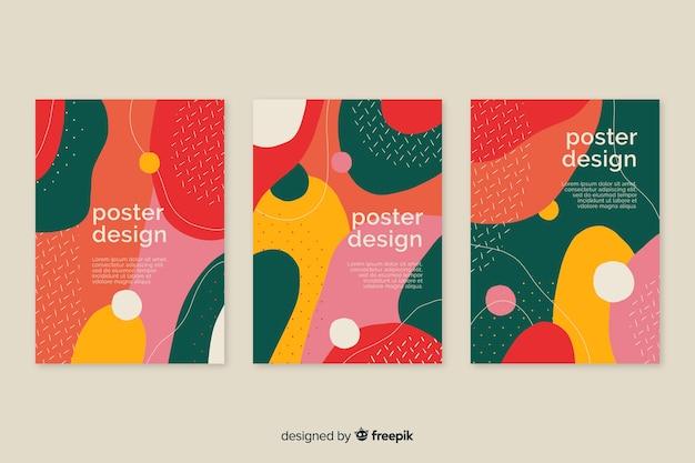 Dynamiczna Kolekcja Szablonów Plakatów Darmowych Wektorów