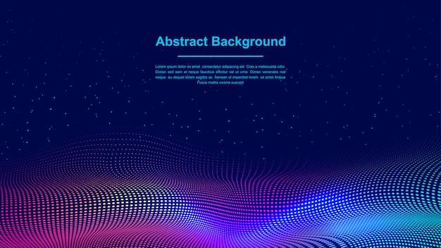 Dynamiczny abstrakcjonistyczny ciekły przepływ cząsteczek tło. Premium Wektorów