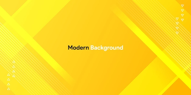 Dynamiczny Kolorowy żółty Kształt Z Geometrycznym I Gradientowym Tłem Premium Wektorów