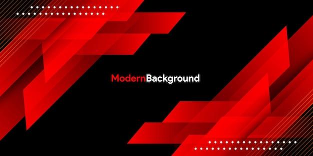 Dynamiczny Płyn Czerwony Geometryczny Z Kolorowym Tłem Gradientu Premium Wektorów