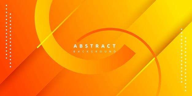 Dynamiczny Płyn Pomarańczowy Geometryczny Z Kolorowym Tłem Gradientu Premium Wektorów