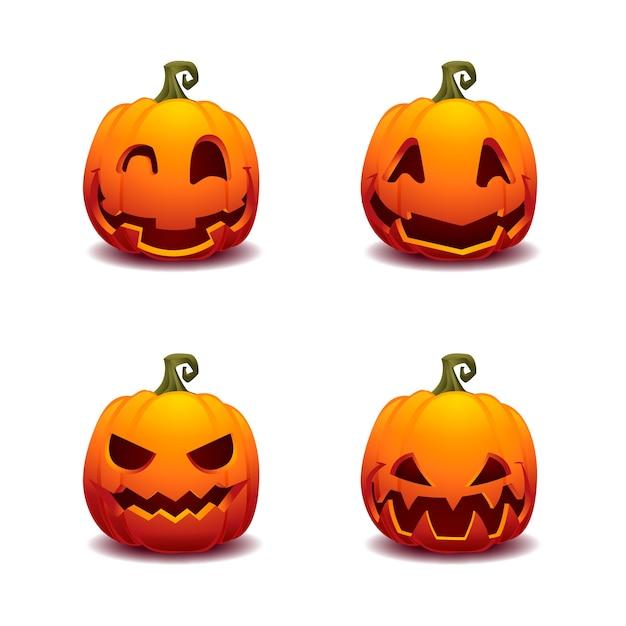 Dynia Halloween Ilustracji Wektorowych Wektor Premium