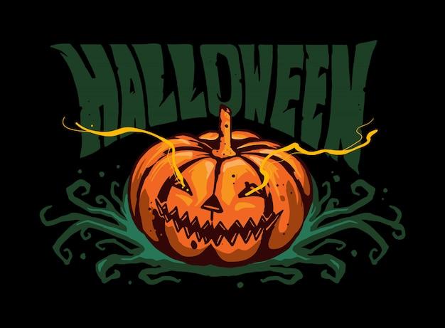 Dynia Halloweenowa Premium Wektorów