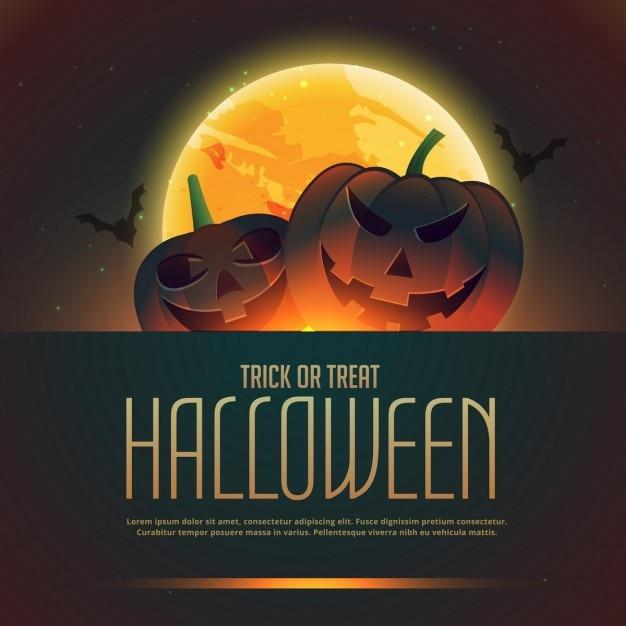 Dynie halloween tle plakatu Darmowych Wektorów