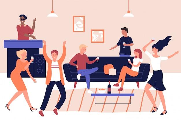 Dyskoteki Przyjęcie, Dyskoteka, Wakacyjna świętowanie Ilustracja Premium Wektorów