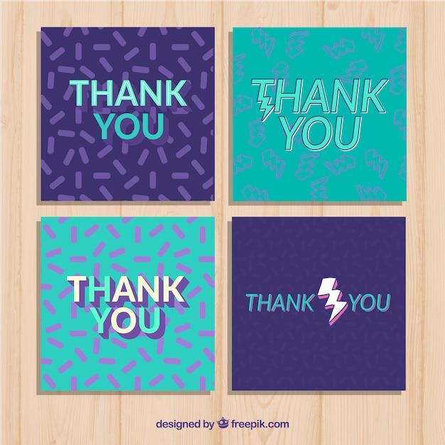 Dziękuję kolekcjonerom kart Darmowych Wektorów