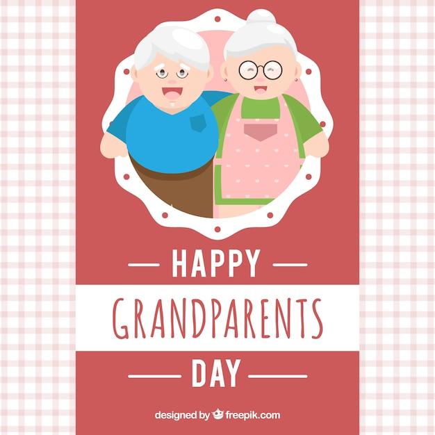 Dziadkowie Pozdrowienia Tle Darmowych Wektorów