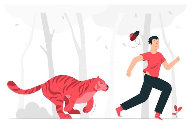 Działa Ilustracja Koncepcja Dziki Darmowych Wektorów