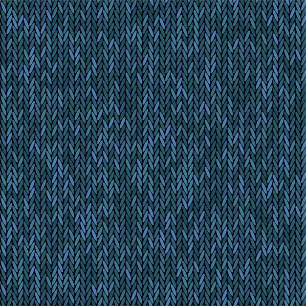 Dzianina O Strukturze Melanżu W Kolorze Niebieskim. Tkanina Bez Szwu. Tło Dziewiarskie. Premium Wektorów