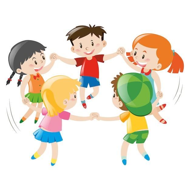 Dzieci Bawiące Projekt | Darmowy Wektor