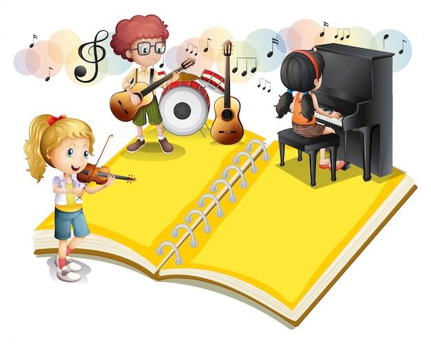 Dzieci Grające Na Instrumencie Muzycznym Darmowych Wektorów