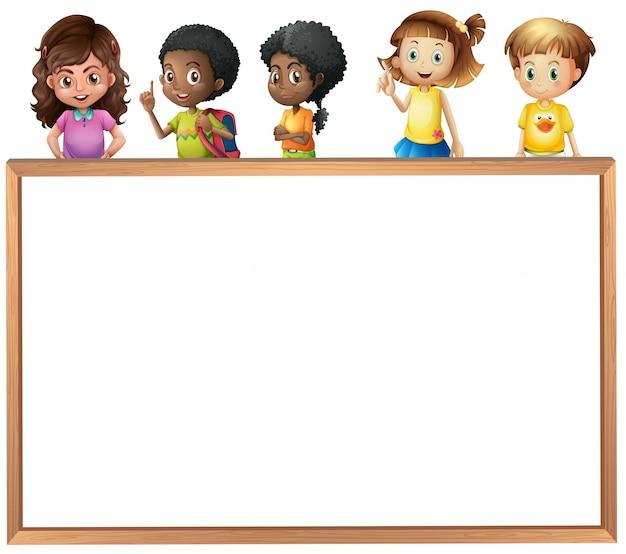 Dzieci i wyżywienie Darmowych Wektorów