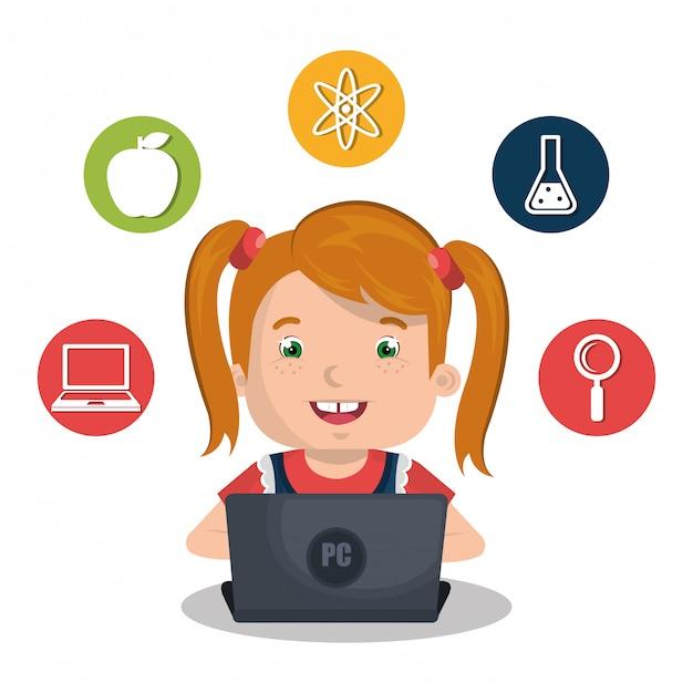 Dzieci online Darmowych Wektorów