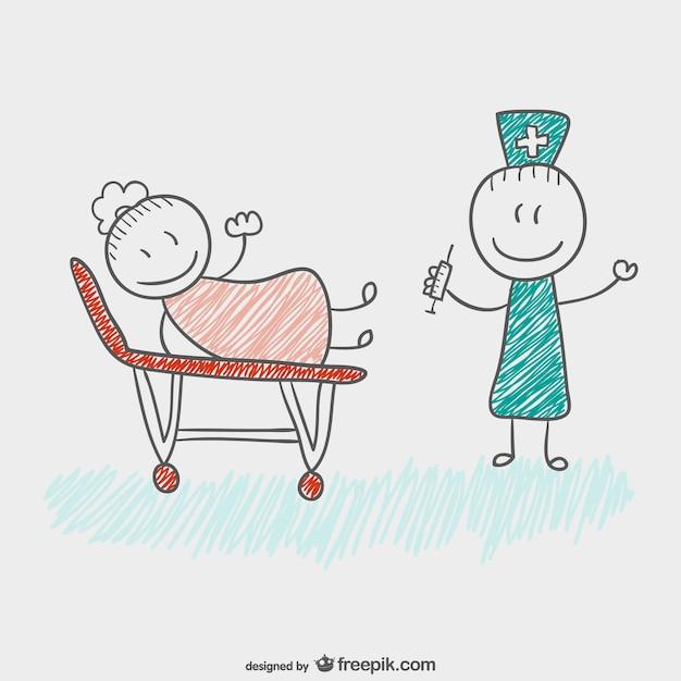 Znalezione obrazy dla zapytania lekarz rysunek